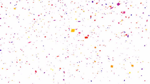 repeatable falling colorful confetti with alpha channel 4k - celebration event stock videos & royalty-free footage