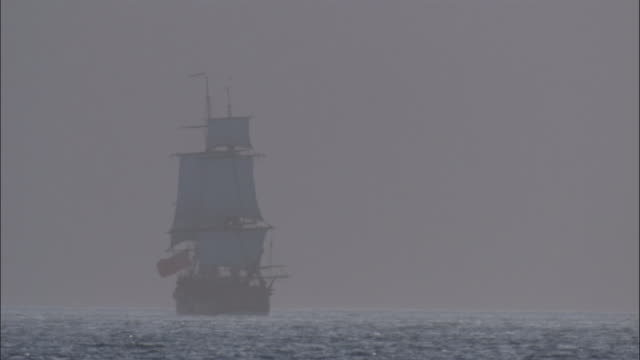 Replica of HMS Endeavour under full sail.