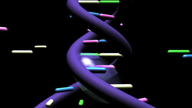 dna replication is the process of copying a double-stranded dna molecule to form two double-stranded molecules - helix model stock videos and b-roll footage
