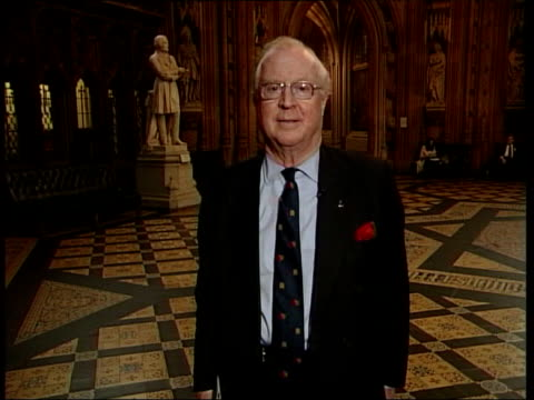 report claims that parliament is failing the public; sir nicholas winterton mp standing in central lobby sir nicholas winterton mp interview sot -... - time of day stock videos & royalty-free footage