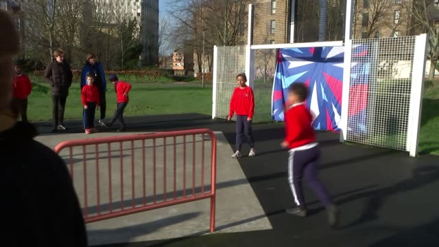 report finds pollution levels almost all sports facilities analysed in london breached who limits; england: london: ext children playing basketball... - shooting baskets stock videos & royalty-free footage