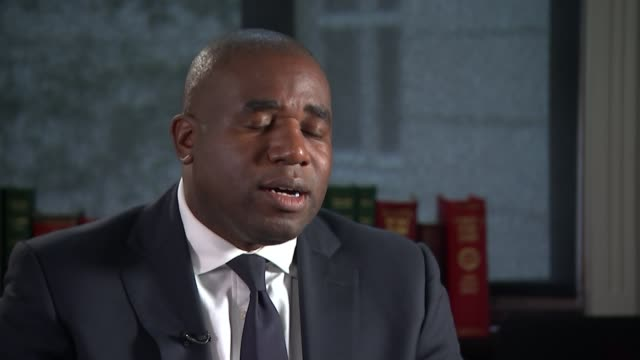 report finds 'racial bias' in criminal justice system england london int david lammy mp interview sot re racial bias in criminal justice system... - クリシュナン・グルマーフィ点の映像素材/bロール