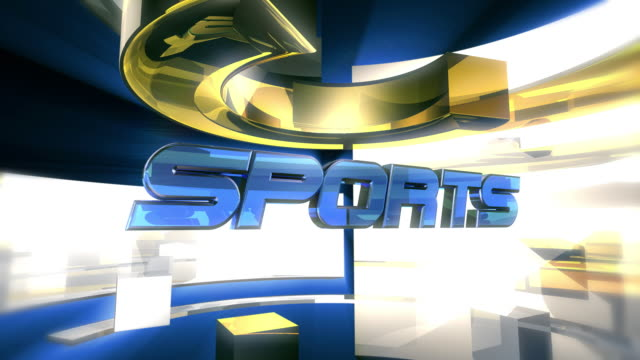 sports report graphic animation (hd) - broadcasting stock videos and b-roll footage