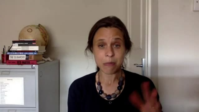 report highlights influence of russian elites on british establishment location catherine belton interview via internet sot - persuasion stock videos & royalty-free footage