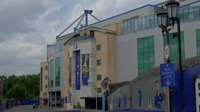 report into historic child abuse reveals failures at chelsea fc englad london ext various of the stamford bridge ground of chelsea fc various of gary... - チェルシーfc点の映像素材/bロール