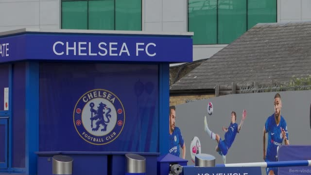 report into historic child abuse reveals failures at chelsea fc england london fulham stamford bridge chelsea football club sign and logo various... - flag stock videos & royalty-free footage