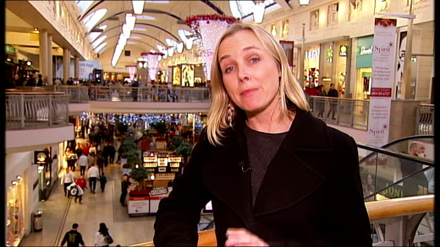 report on christmas shopping in the current downbeat economic climate; various gvs of shoppers along in bluewater two women, with bags of shopping,... - top of the pops stock videos & royalty-free footage