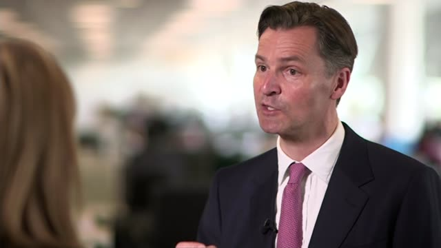 report on third runway: economic case; heathrow airport: int set-up shots and interview with john holland-kaye sot - we need to get to the growing... - raw footage stock videos & royalty-free footage