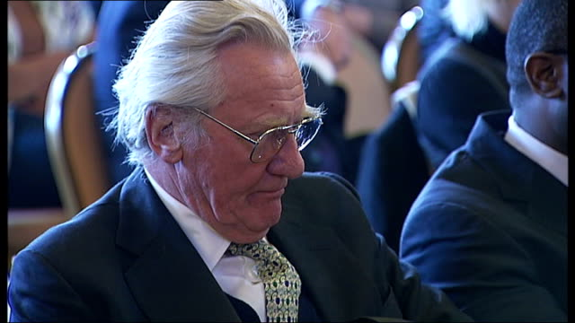 report on tottenham calls for regeneration following london riots england london tottenham tottenham and lord heseltine sitting in audience lord... - michael heseltine stock videos and b-roll footage