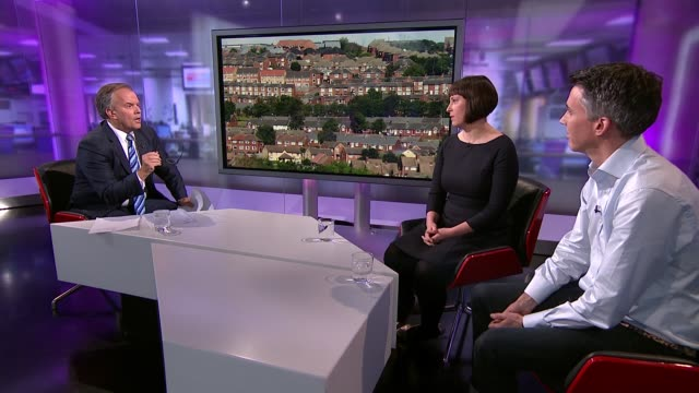 Report provides new evidence of young people being priced out of the housing market ENGLAND London GIR INT Ian Mulheirn and Betsy Dillner LIVE studio...