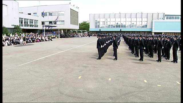 report says number of frontline police officers will fall over next three years t29061247 / tx police cadets marching in passing out ceremony of new... - military recruit stock videos and b-roll footage