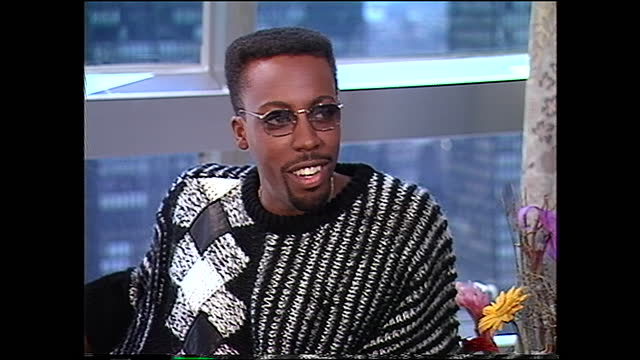 """is this all intimidating to you? arsenio hall: it's very intimidating. i've done two acting things in my life prior to this movie. i did """"alfred... - arsenio hall stock videos & royalty-free footage"""