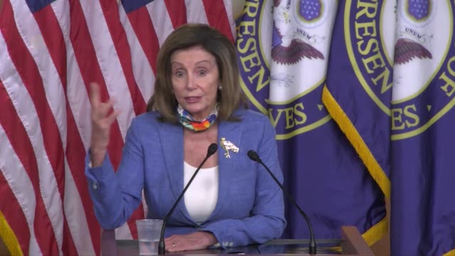 reporter tells house speaker nancy pelosi of california at a weekly press conference that the white house continued to say reported raw intelligence... - verification stock videos & royalty-free footage
