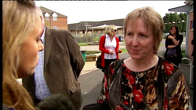 Reporter to camera Gordon Brown chatting with Labour supporters in garden area of community centre Vox pops Gordon Brown interview SOT as the...