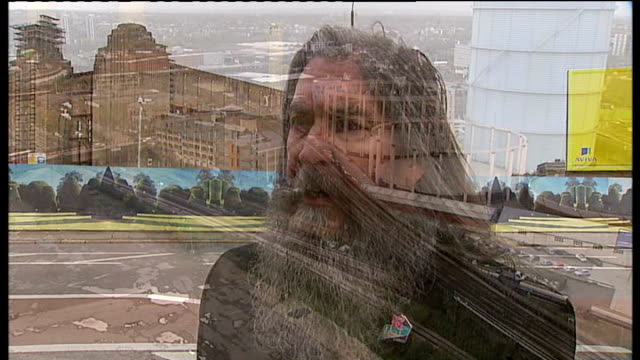reporter to camera high angle shots of land surrounding battersea power station site brian barnes interview sot int various shots of scale model of... - surrounding stock videos & royalty-free footage