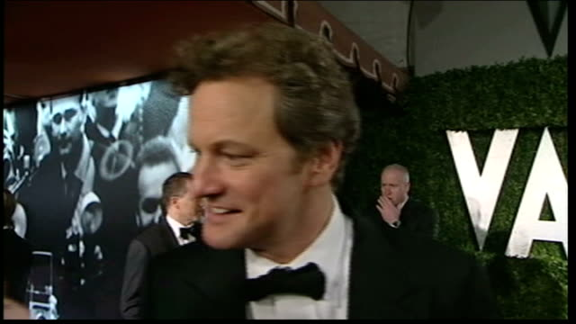reporter to camera michael sheen interview as standing next to his former wife kate beckinsale sot colin firth interview sot winner interview sot... - best supporting actor stock videos & royalty-free footage