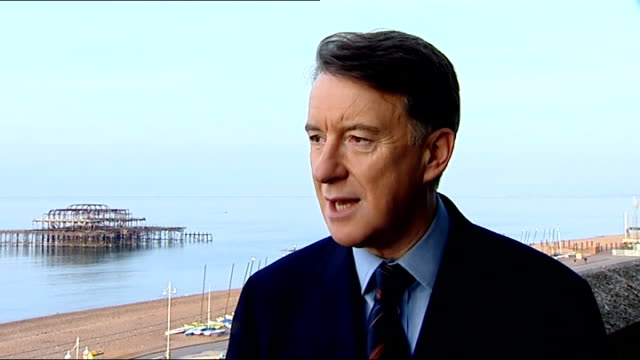 reporter walking with lord mandelson lord mandelson interview sot saying that reports on brown's health are put out by right wing extremists int... - jack straw stock videos and b-roll footage