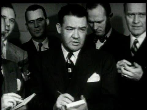 1948 montage reporters at a white house conference / washington, d.c., united states - report document stock videos & royalty-free footage