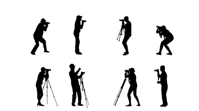 reporters - in silhouette stock videos & royalty-free footage