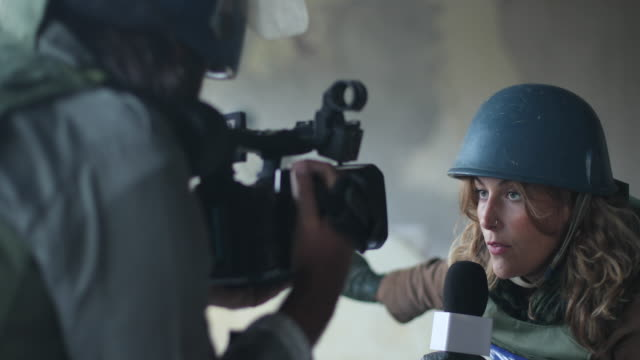 reporters without borders in action - war stock videos & royalty-free footage