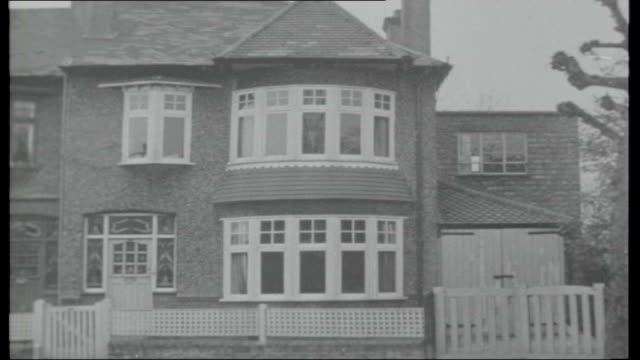 en route to moscow barbara brooke interview england london finchley ext **some picture disruption throughout report** exterior of house belonging to... - finchley stock videos and b-roll footage