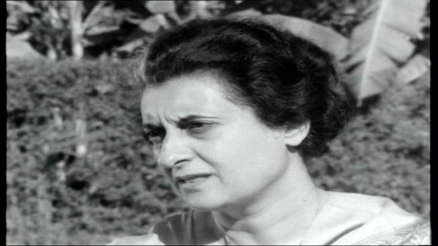 india mrs gandhi elected premier indira gandhi interview on the caste system sot caste system has broken down in some ways and strengthened in others... - indira gandhi stock videos & royalty-free footage