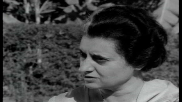 india mrs gandhi elected premier indira gandhi interview sot agriculture industry closely linked can't separate one from other can't increase... - indira gandhi stock videos & royalty-free footage