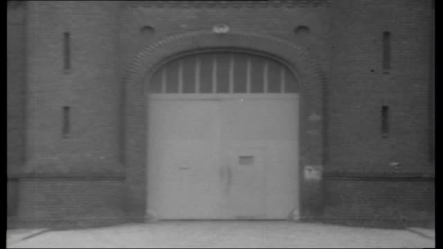 nazi prisoners in spandau; west germany: ext reconstruction of journey speer, hess and von schirach would have taken to spandau including shots of... - prison guard stock videos & royalty-free footage