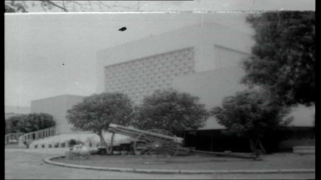 nigeria after the coup ext sign for al haji sir ahmiadu bello close shot bello federal palace hotel sir abubakar tafawa balewa walking with harold... - nigeria stock videos and b-roll footage