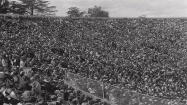 berkeley students versus governor ronald reagan; usa: california: sacramento: ext governor of california ronald reagan from building cowboy down from... - us politics stock videos & royalty-free footage