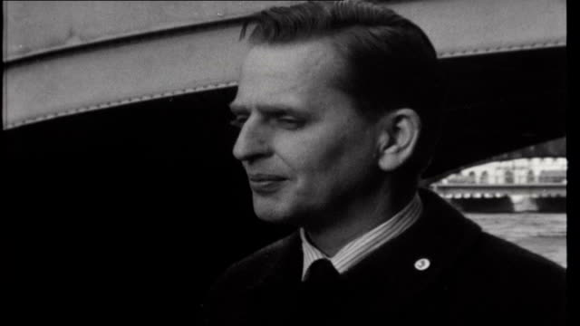 sweden right hand drive olaf palme interview sot it's a consequence of international traffic / we have an enormous increase in border crossings... - wheel stock videos & royalty-free footage