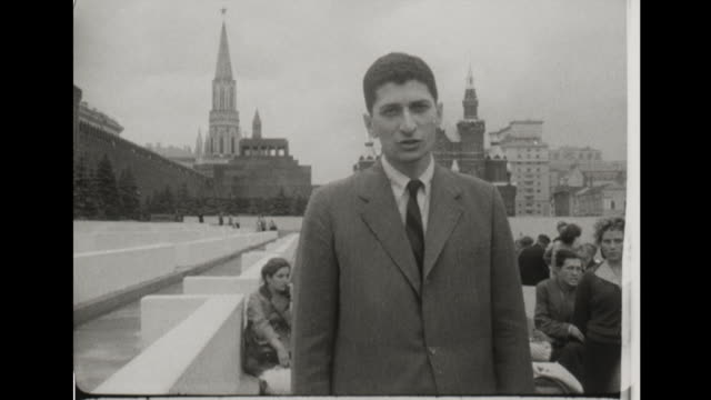 reporting from moscow marvin kalb speaks about the russian people's curiosity and sympathy for gary powers and his family - 1960 stock-videos und b-roll-filmmaterial