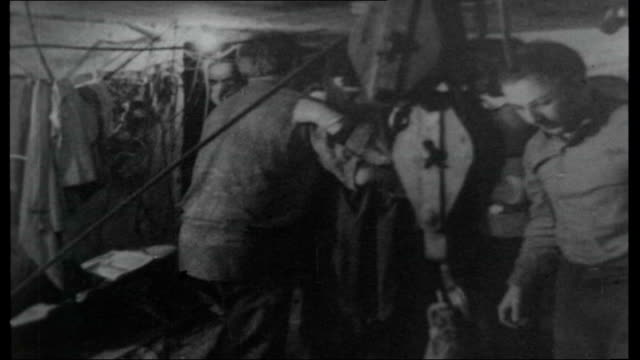 west berlin file / 1965 int various shots of escapee refugees crawling through tunnel being hoisted up shaft and coming out into west berlin east... - east berlin stock videos and b-roll footage
