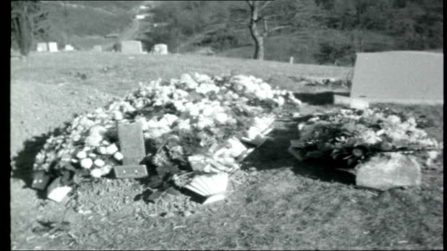 stockvideo's en b-roll-footage met death of a us soldier in vietnam usa west virginia wayne ext people gathered at funeral of darrell sanders zoom in soldiers firing military salute as... - virginia amerikaanse staat