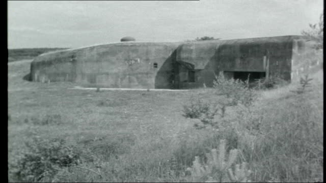 france maginot line ext * * music overlay sot * * general view of countryside pan maginot line fortifications / various of maginot line... - maginot line stock videos and b-roll footage