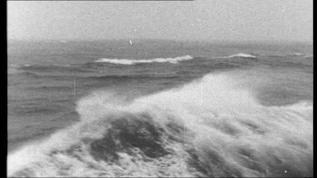 tristan da cunha way of life on a volcanic island atlantic swelling sea boat sailing along - atlantic ocean stock videos & royalty-free footage
