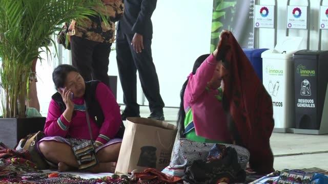 representantes de la organizacion indigena demandaron atencion sobre el cuidado del medio ambiente en el marco de la cumbre de cambio climatico que... - politik und regierung stock-videos und b-roll-filmmaterial