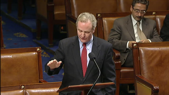 stockvideo's en b-roll-footage met representative chris van hollen of maryland speaks on the house floor regarding an impending government shutdown - united states and (politics or government)