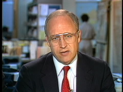 representative dick cheney talks about the testimony of former national security adviser robert mcfarlane. - dick cheney stock videos & royalty-free footage