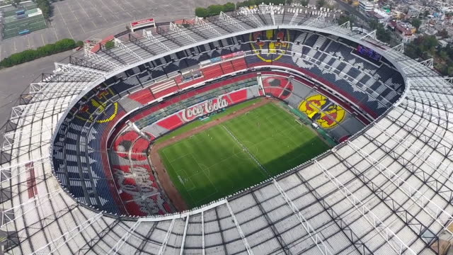 representative estadio azteca in mexico city - commercial sign stock videos & royalty-free footage
