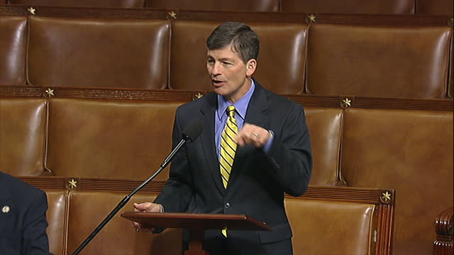 stockvideo's en b-roll-footage met representative jeb hensarling of texas talks about the national debt in relation to the budget control act of 2011 shortly before the act is passed... - united states and (politics or government)