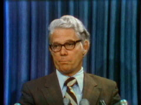 representative john anderson says that president richard nixon has invited congressional leaders to supply possible names for a vice president to... - resignation of richard nixon stock videos & royalty-free footage
