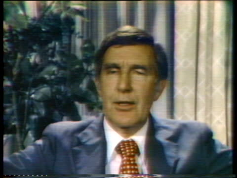 stockvideo's en b-roll-footage met representative morris udall comments on his second-place finish in the south dakota primary. - zuid dakota