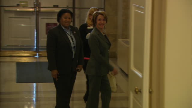 stockvideo's en b-roll-footage met representative nancy pelosi arrives at the capitol during the 2013 government shutdown - united states and (politics or government)