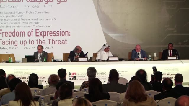 Representatives of international regional and national organisations of journalists meeting at conference on media freedom in Doha unequivocally...
