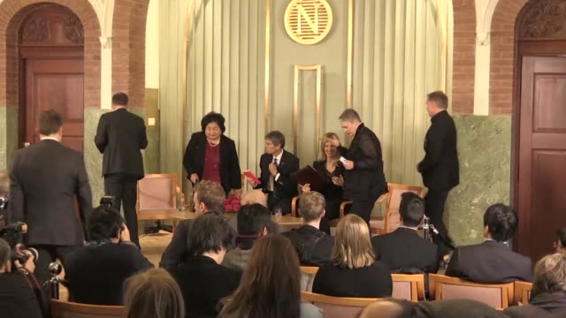 representatives of the 2017 nobel peace prize laureate the international campaign to abolish nuclear weapons on saturday called on the us and north... - weapons of mass destruction stock videos & royalty-free footage
