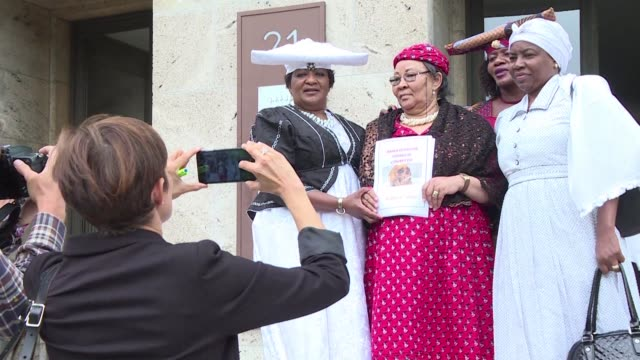 representatives of the herero and nama people of namibia asked germany for an apology for the crimes committed against their ancestors under the... - colonial stock videos & royalty-free footage