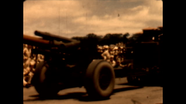 republic day military parade celebrating the treaty of manila and the end of the post wwii occupation of the philippines. footage of m8 light armored... - filippine video stock e b–roll