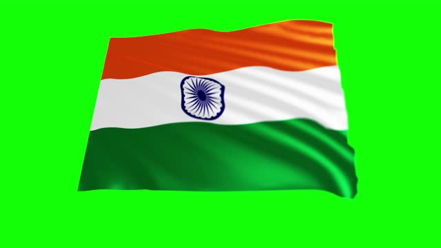 republic of india flag blowing in the wind, 3d animation. seamless loop. - politics illustration stock videos & royalty-free footage