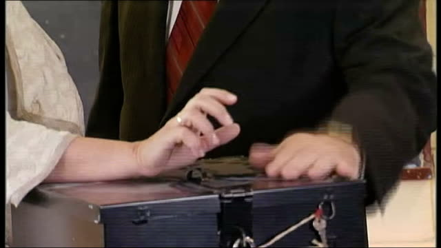 lisbon treaty referendum takes place republic of ireland dublin photography * * mary mcaleese placing vote on lisbon treaty referendum in ballot box... - ballot box stock videos & royalty-free footage
